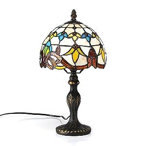 Gweat Lampada da 8 pollici barocco europeo tiffany lampada da tavolo Bedroom Lampada da comodino