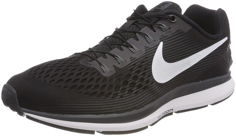 Nike Air Zoom Pegasus 34 Flyease, Zapatillas de Trail Running para Hombre 44.5 EU|Negro (Black/White/Dark Grey/Anthracite 001)