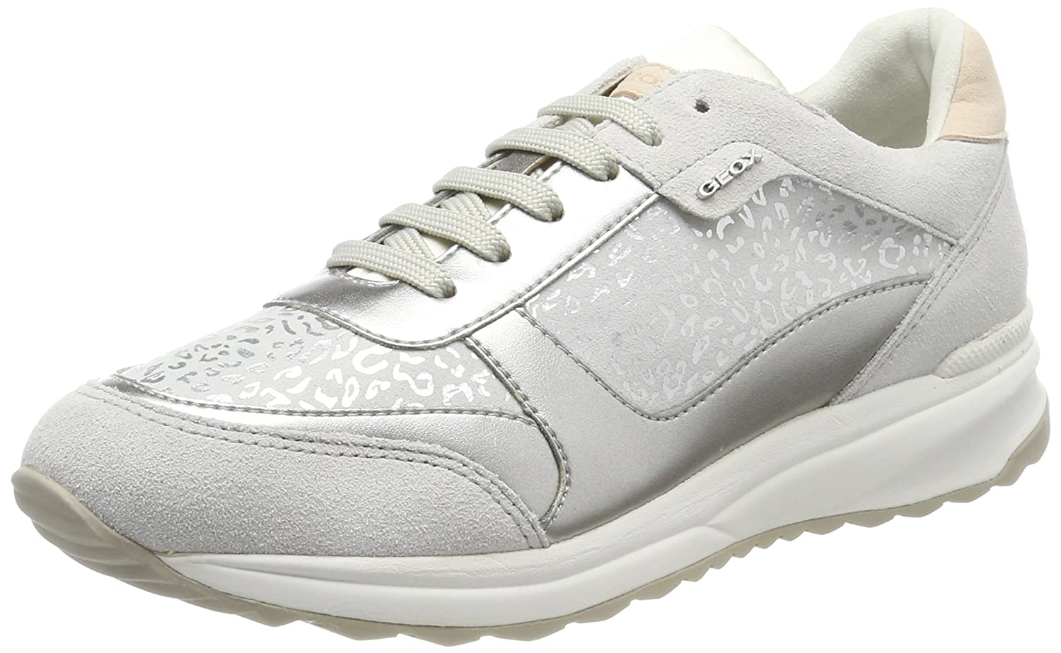 blanco (Off blanco) Geox D Airell C, Hauszapatos para mujer
