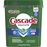 Cascade Complete Dishwasher Pods, ActionPacs Detergent, Fresh Scent, 78 count