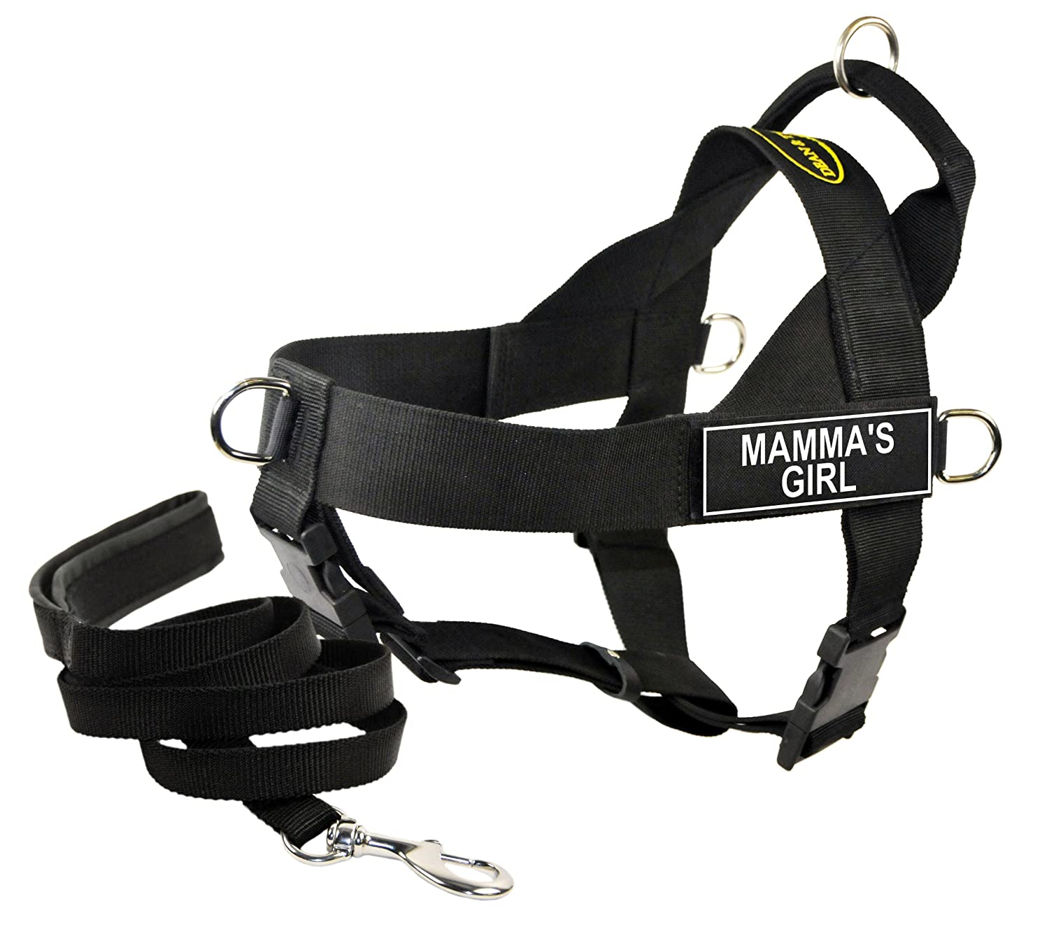 Dean & Tyler's DT Universal MAMMA'S GIRL Harness, Large, with 6 ft Padded Puppy Leash.