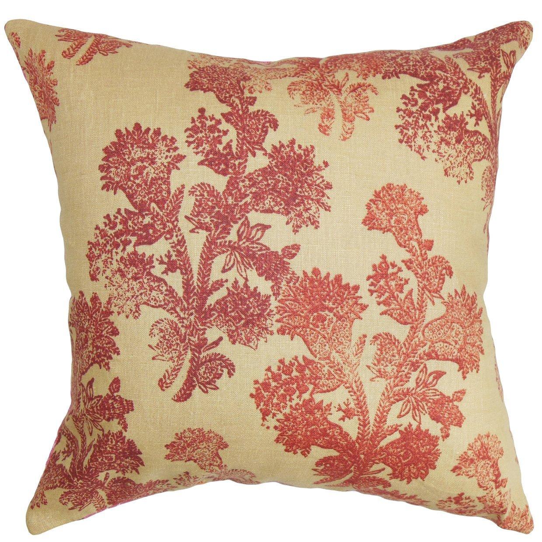 The Pillow Collection Efterpi Floral Bedding Sham Saffron Standard//20 x 26