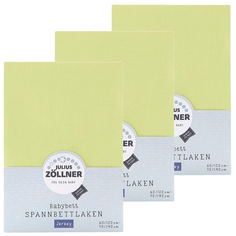 Z/öllner Spannbetttuch Jersey 70x140 60x120 Sand 3er Pack