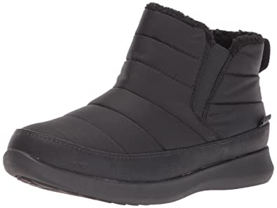 Skechers Womens Boulder Fabric Closed Toe Ankle Cold Weather Boots