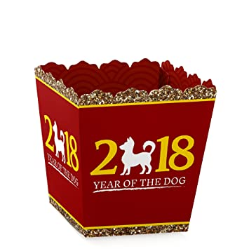 chinese new year candy boxes 2018 year of the dog party favors set of - Chinese New Year Candy