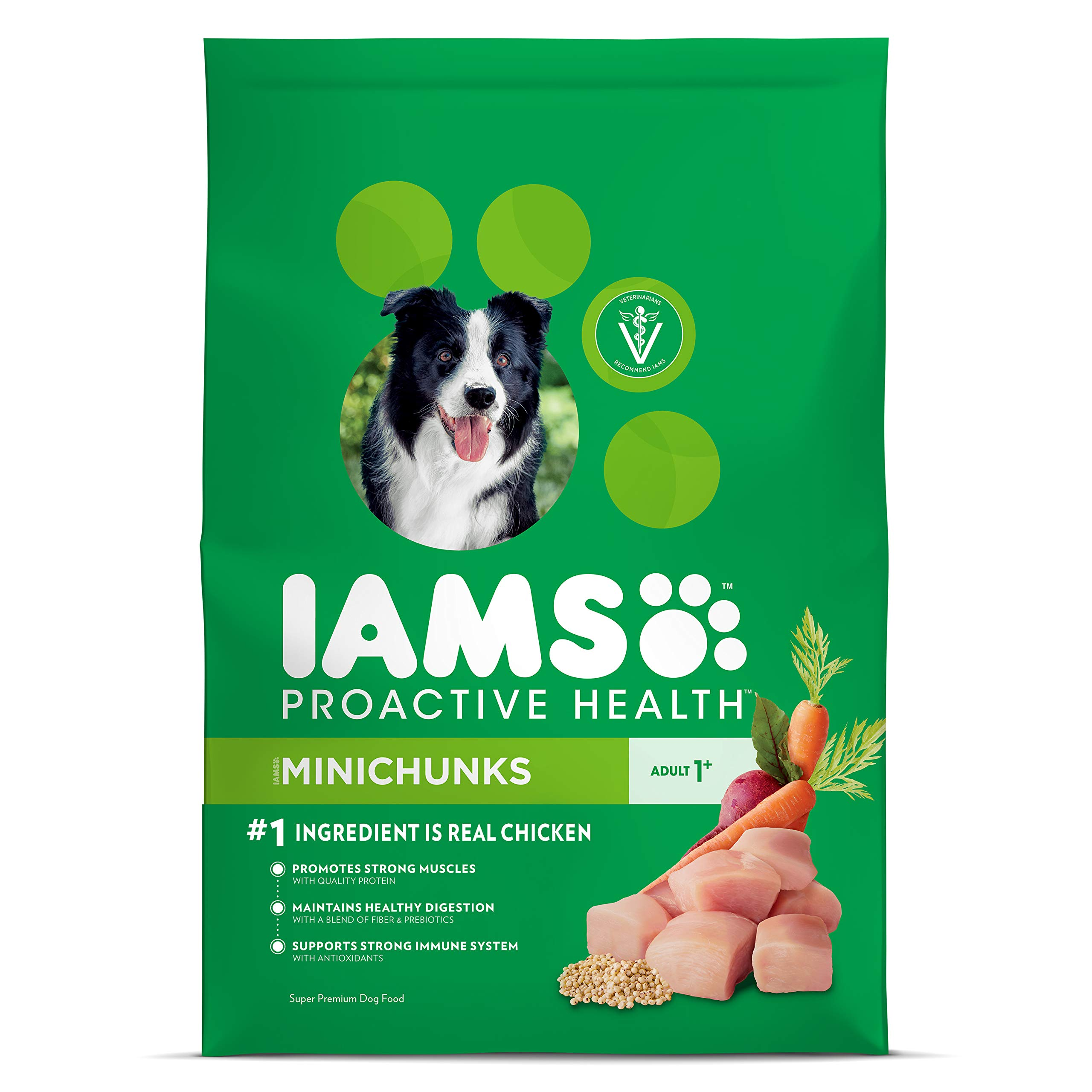Iams Proactive Health Adult Minichunks Dry Dog Food Chicken, 30 Lb. Bag by Iams