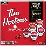 Tim Hortons Variety Pack, Original, Dark Roast, Colombian, Bold Roast and French Vanilla, Single Serve Keurig K-Cup Pods, 30