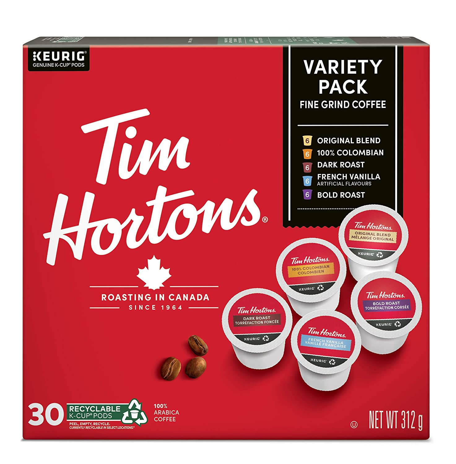 Tim Horton's Variety K-Cup 30 Count