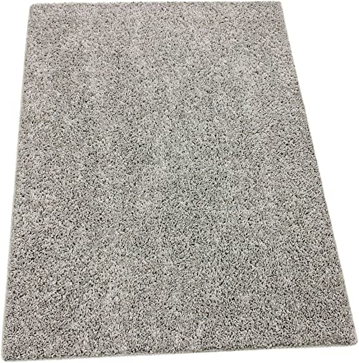 Custom Cut-to-Fit Light Gray Area Rug. 12 x 15