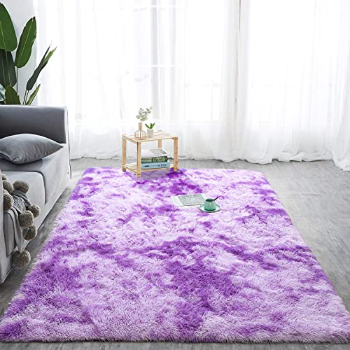 Softlife Fluffy Bedroom Area Rugs 5 x 8 Feet Mordern Collection Rug Indoor Shaggy Carpet
