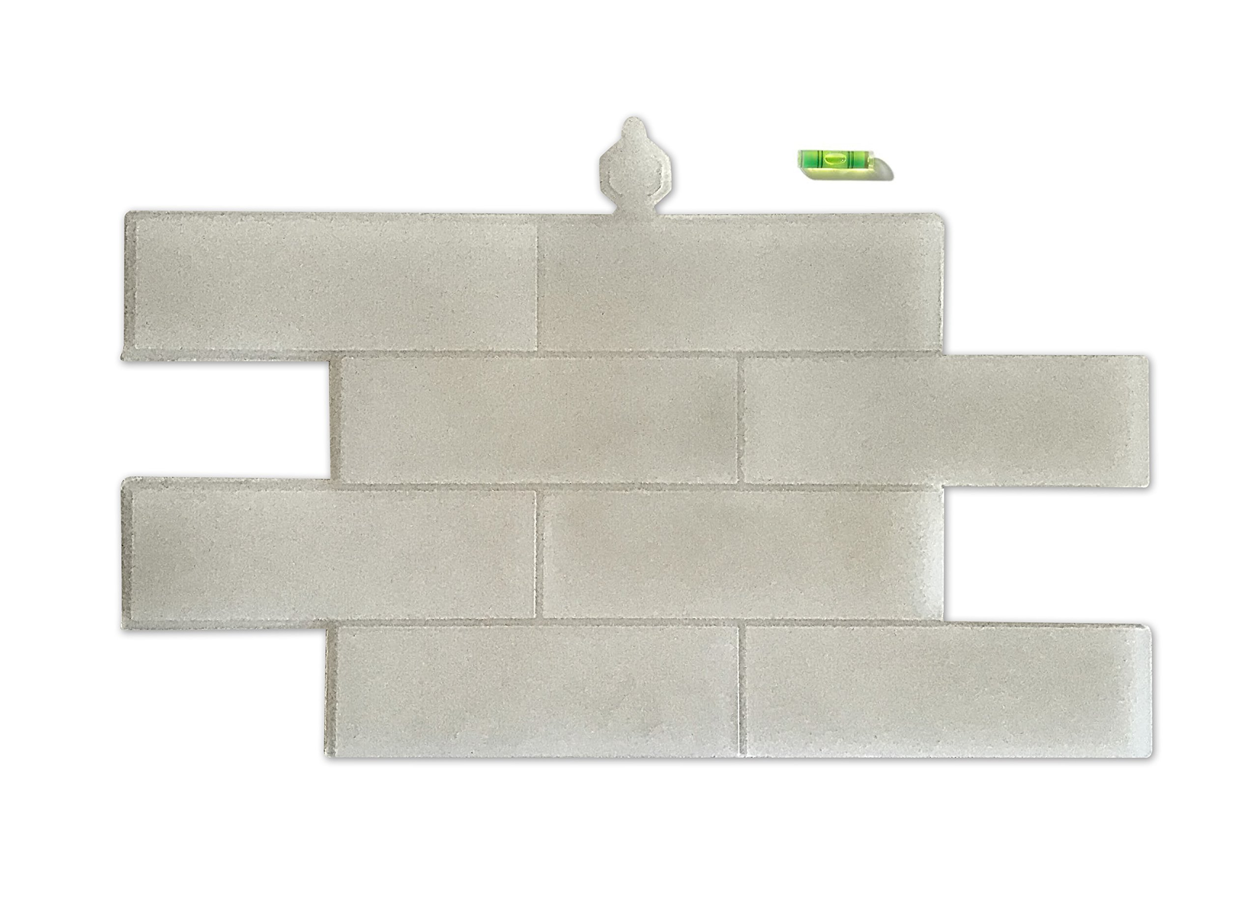 The Original Wall Stamp Designer Painting Template | BRICK 15 x 23'' with Patented Self-Leveling System
