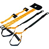 The Gear Outfitter Bodyweight Resistance Training Straps | Exercise Bands For Stretching, Strengthening, Physical Therapy, Fitness & Rehab | Includes Carrying Bag & Extension Straps