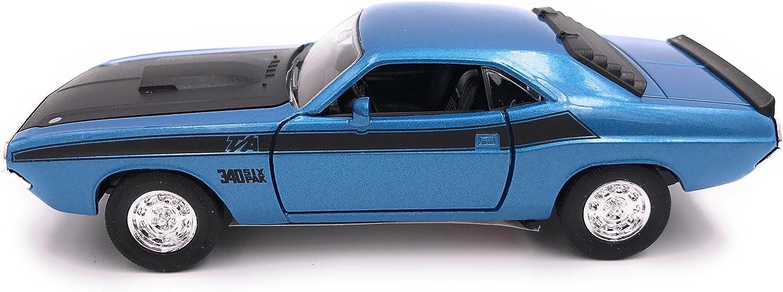 Welly Challenger T//A Mod/èle de Licence de Voiture 1970 Produit 1 34-1 39 Bleu