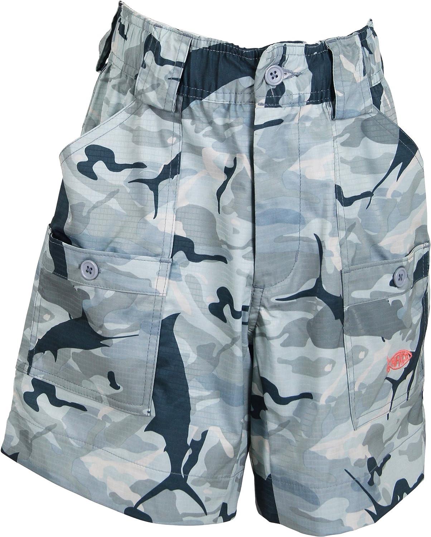 AFTCO BE2 Boys Camo Original Fishing Shorts