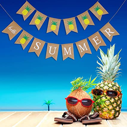 Summer Party Pineapple Fruit Decor Home Decorative Hanging Pineapple Banner Garlands Summer Bridal Show Pool Party Deocr Festive & Party Supplies