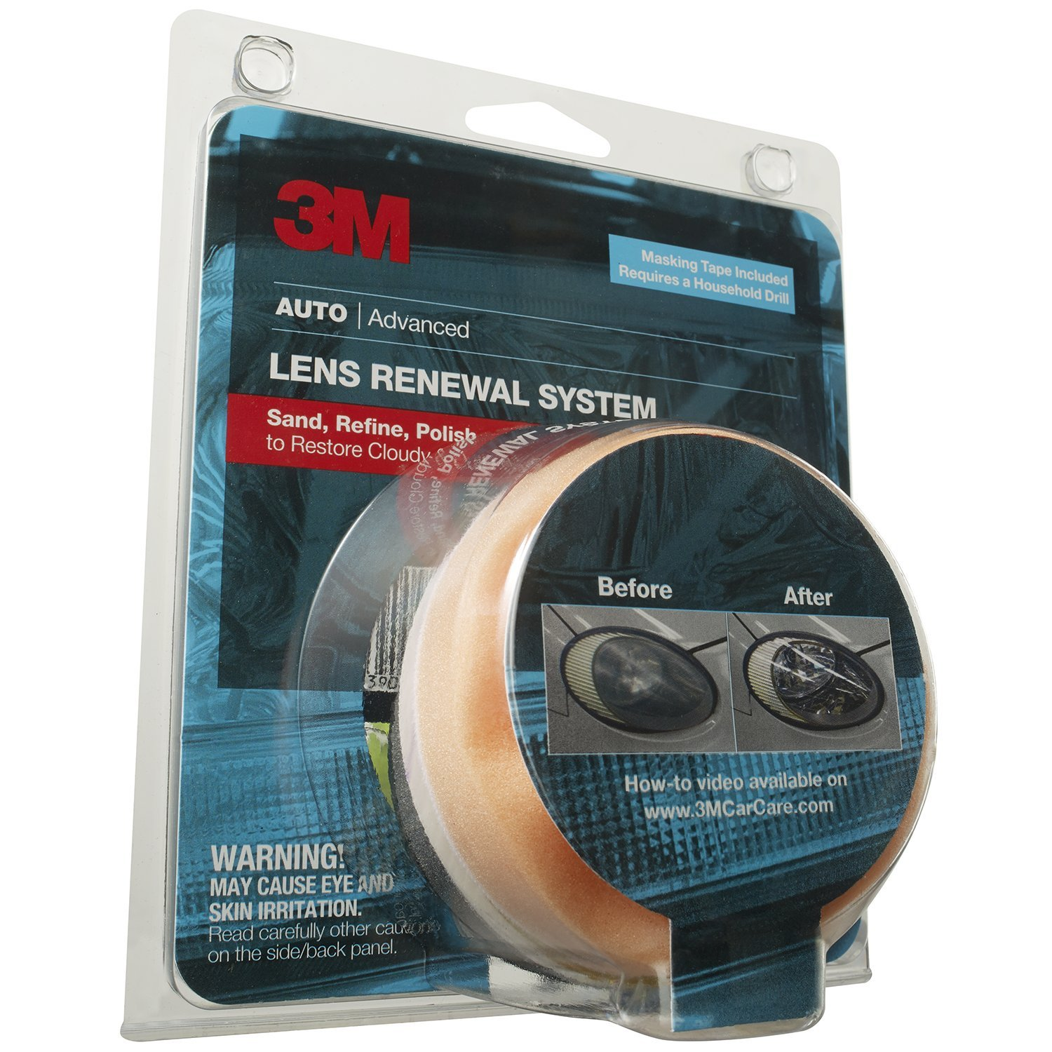 3M Lens Renewal System, Includes Masking Tape, Drill Application, 1 Kit 81L-8cg2EYL