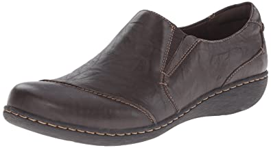 Clarks Women's Fianna Carlie Flat, Brown Leather, ...