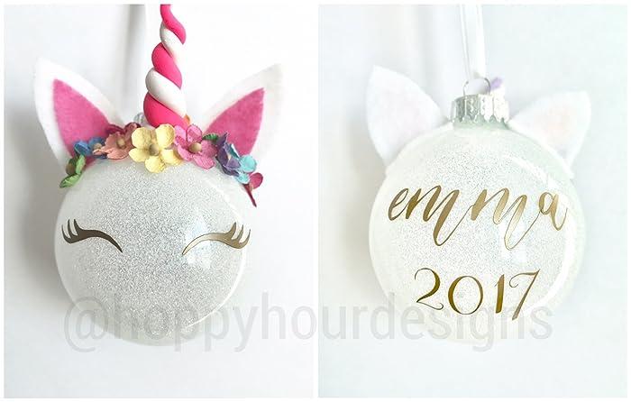 Amazon.com: Unicorn Ornament - Custom Little Girl\'s Gift - Whimsical ...