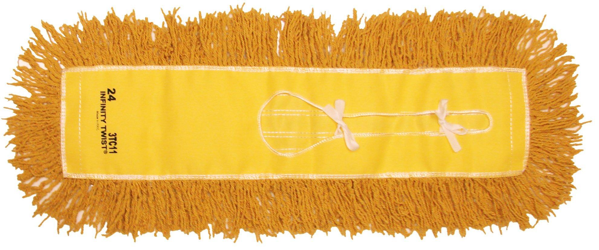 Golden Star AJU24CITY Jumbo Infinity Twist Dust Mop Head, 5'' x 24'', Yellow (Pack of 12)