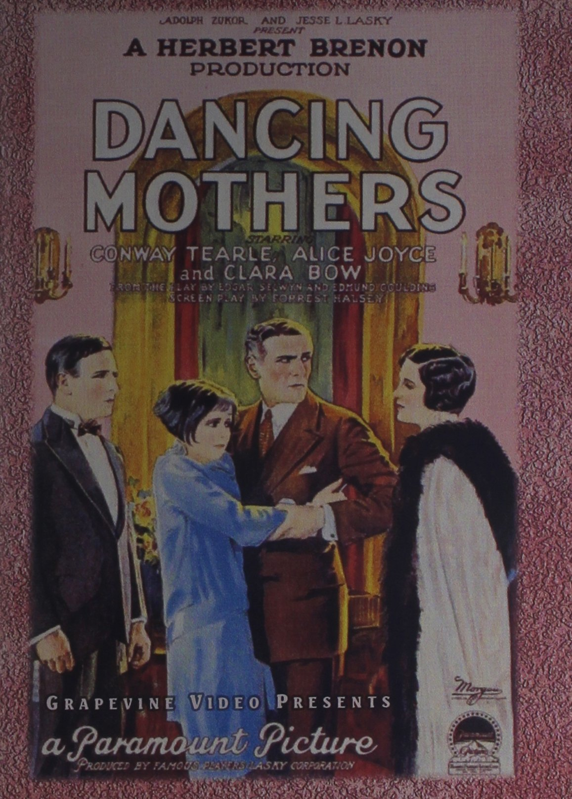DVD : Dancing Mothers (Black & White, Silent Movie)