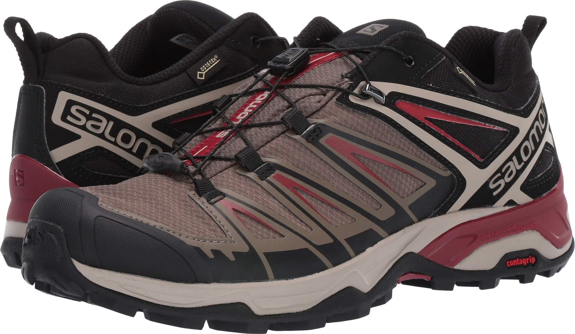 Salomon Men's X Ultra 3 GTX Hiking Shoe, Bungee Cord/Vintage Kaki/Red Dahlia
