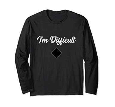 Im-difficile-nera A Maniche Lunghe T-shirt PqEmpiVm