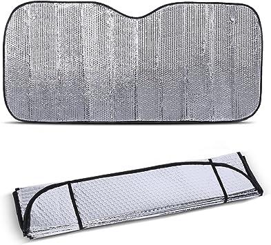 Front Car Sunshade Windshield Silver Solar Reflective Silver Keeps Vehicle Cool Car Sunshade Jumbo Sun Shades Block UV Rays kings store,Sunshade UV Heat Insulation Sun