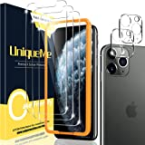 [2+3 Pack] UniqueMe Compatible for iPhone 11 Pro Max 6.5 inch Screen Protector and Camera Lens Protector, Tempered Glass HD B