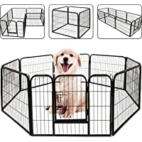 """39"""" Dog Playpen Dog Dence Exercise Pen, 8 Panel Pet Pet Playpen Puppy Enclosure Fence Play Pen, Indoor/Outdoor Foldable…"""