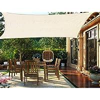 HENG FENG Toldo Vela de Sombra Rectangular 2 x 3 m Protección Rayos UV Solar Protección HDPE Transpirable Aislamiento de…