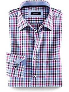 sehr bequem 100% Qualität am besten bewerteten neuesten Walbusch Herren Hemd Bügelfrei-Hemd Dobby Vichykaro Regular ...
