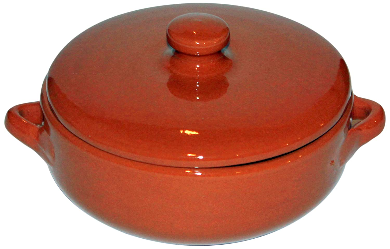 Amazing Cookware SB133 Natural Terracotta Deep Dish with Lid (Diameter 15cm, Depth 5cm)