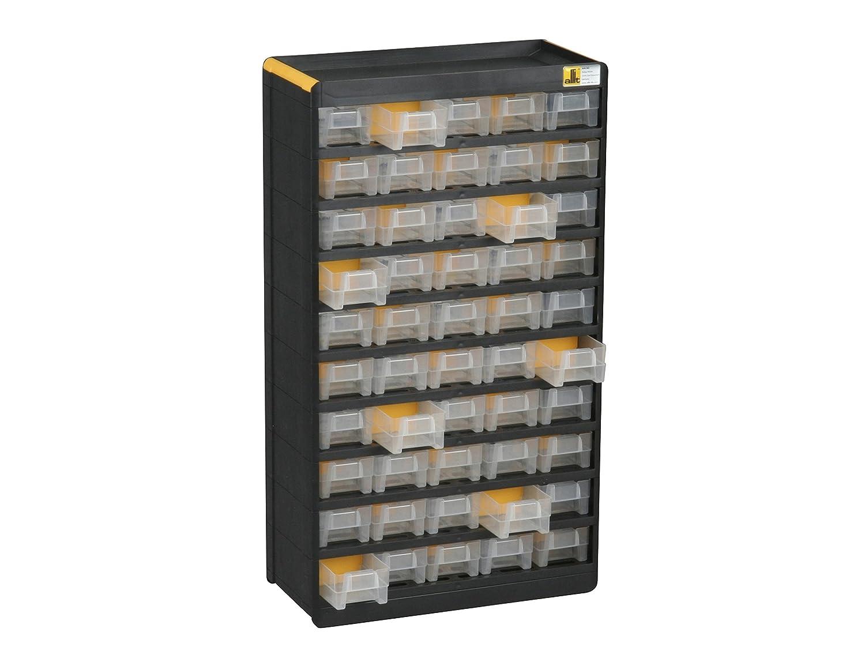 Allit – 465130 Casillero de compartimentos pequeños, 1unidad, negro, amarillo Allit AG Kunststofftechnik