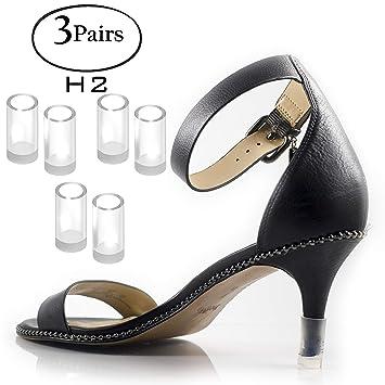 8c6c34902ec Heel Hunks Clear-Glass H2 10mm 3-Pairs Heel Protectors Replacement Tip Caps  for