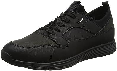 Herren U Snapish A Sneaker, Schwarz (Black), 44 EU Geox