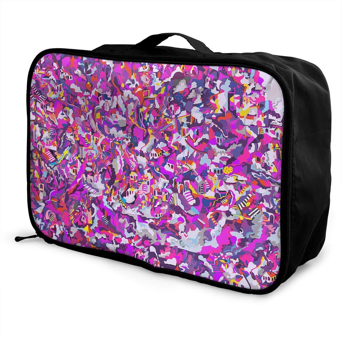 Travel Luggage Duffle Bag Lightweight Portable Handbag Abstract Art Pattern Large Capacity Waterproof Foldable Storage Tote