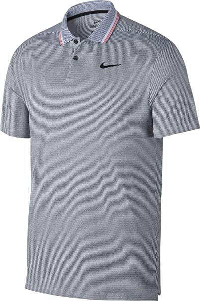 78a472f146 Amazon.com : Nike Men's Dry Fit Vapor Control Golf Polo with Stripes :  Clothing