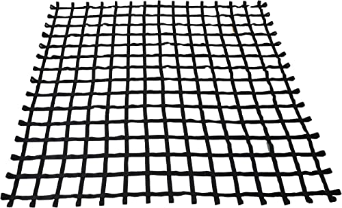 Fong 12 ft X 12 ft Climbing Cargo Net Black Heavy Duty -Obstacle Climbing Net Outdoor – Cargo Net for Climbing Wall – Both for Kids and Adults