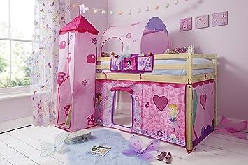 Letti A Castello Con Tenda.Letto A Castello Per Bambini Con Tenda Torre E Tunnel Tidy In