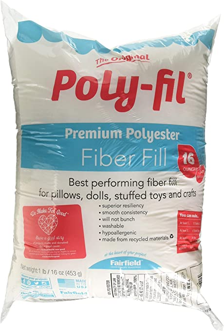 Fairfield FAIPFT12 Fiber Poly Fil Bag 12 oz White 2 Pack