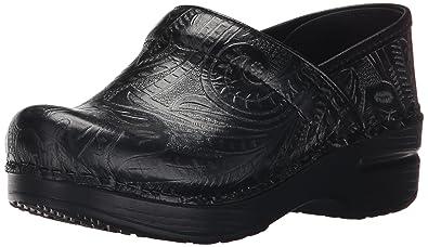 239381cdcbd4e Amazon.com | Dansko Women's Professional Clog, Black Tooled Leather ...