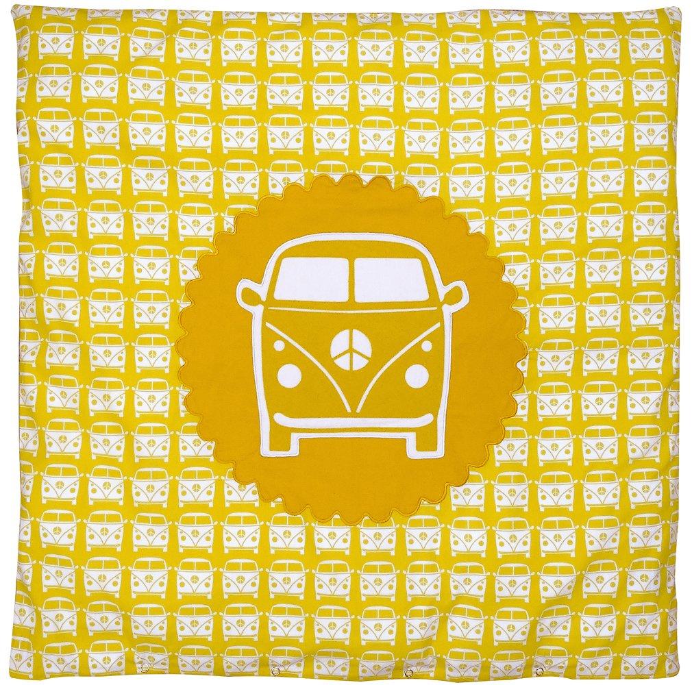 color amarillo dise/ño con furgoneta de Volkswagen 80 x 80 cm Juego de ropa para cuna o silla de paseo TAFTAN DD-917