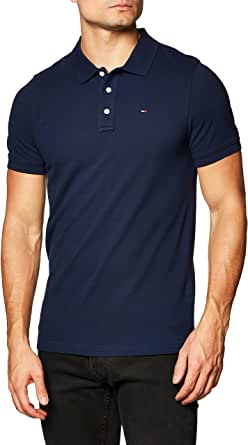 Tommy Jeans TJM Classics Solid Stretch Polo Camisa Hombre