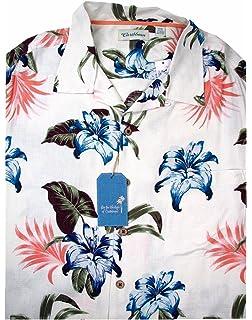 9de0f191 Amazon.com: Hwy One Big and Tall Hawaiian Shirt In Brown and Purple ...