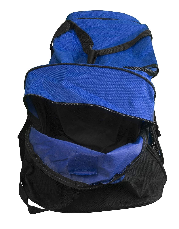 all about me company Gymnastics Personalized Standard Colorblock Sport Duffle Bag Carolina Blue//Grey