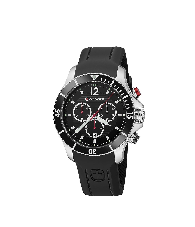 WEGNER Unisex-Armbanduhr 01.0643.108 WENGER SEAFORCE CHRONO Analog Quarz Leder 01.0643.108 WENGER SEAFORCE CHRONO