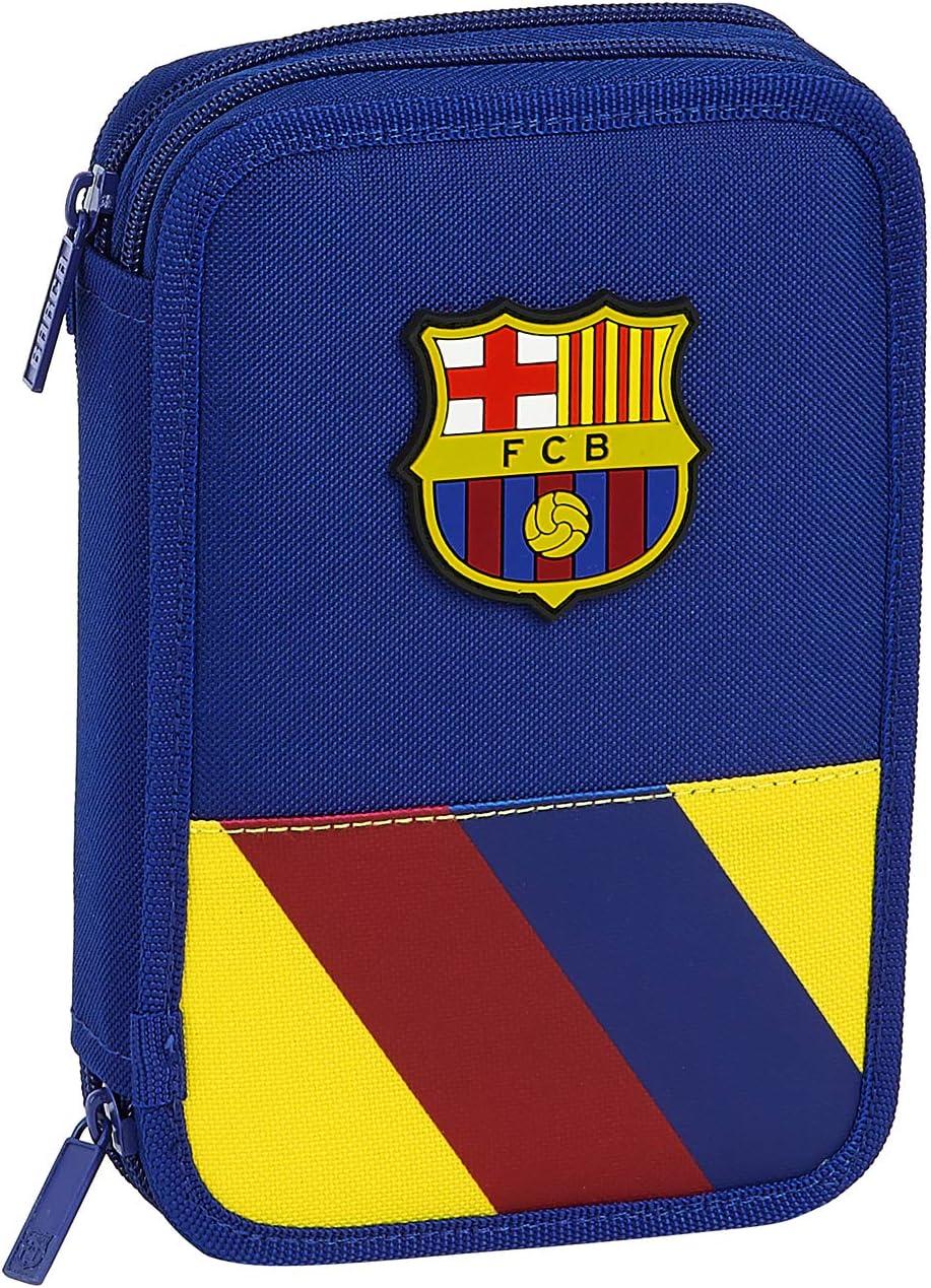 Safta 412025054 Plumier Doble, Estuche con 34 Piezas, niño FC Barcelona: Amazon.es: Equipaje