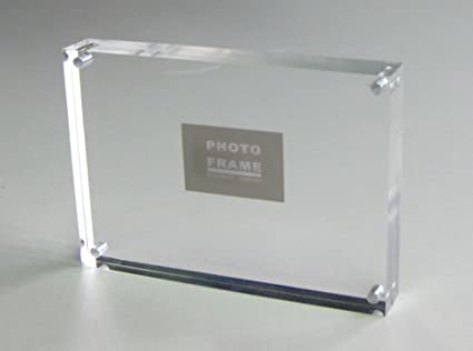 10units/lots) A5 Freestanding Acrylic Photo Block Frames with ...