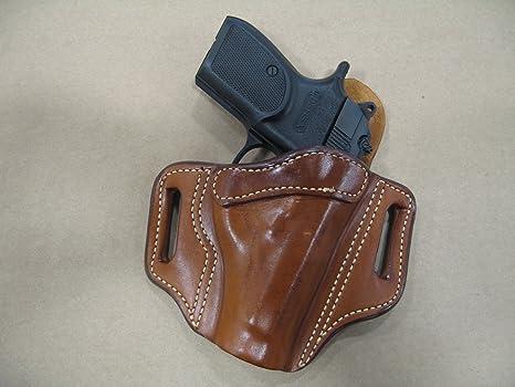 Beretta 84 / 85  380 OWB Leather 2 Slot Molded Pancake Belt Holster CCW TAN  RH
