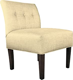 product image for MJL Furniture Designs Samantha Collection Fabric Upholstered Button Tufted Living Room Accent Guest Chair, Dawson Series, Pismo